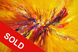 Yellow Red Abstraction XL 2 / SOLD