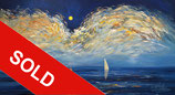 Early Moonlight Sailing L 2  / SOLD