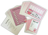 Babyparty Spiele Kuvert Set rosa Mädchen