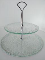 Présentoir à gâteau en verre