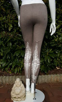 "Woman Leggings ""Cut Outs Grey"""