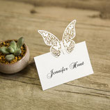 "#C Lasercut Platzkarte ""Schmetterling"""
