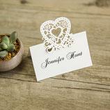 "#E Lasercut Platzkarte ""vintage heart"""