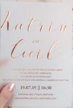 Transparente Hot Foil-Karte #HF0022, klein