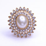 Perl-Strass-Embellishment, oval #106RG