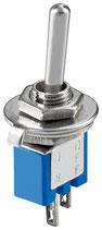 Miniatur Kippschalter blau 3A/125V EIN/AUS 2 Pins Goobay