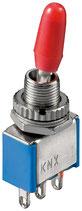 Miniatur Kippschalter blau 3A/250V EIN/EIN 3 Pins Goobay