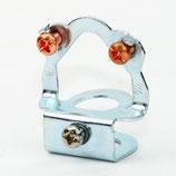 Leuchten Pendelrohr Aufhänger Metall, Klemmbefestigung und Erdung M13 Universalloch