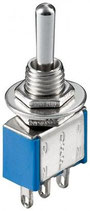 Miniatur Kippschalter blau 3A/250V EIN/AUS 3 Pins Goobay
