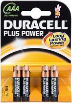 LR03 AAA Micro MN2400 1,5V 4er Duracell Batterie