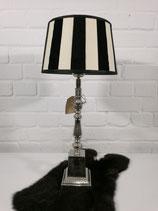 Tischleuchte 56 cm schwarz creme