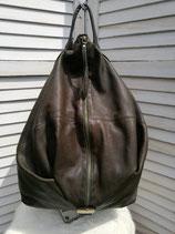 Lederrucksack dunkel moosgrün