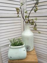 Keramikvase  Hoch lindgrün