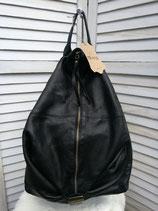 Lederrucksack schwarz