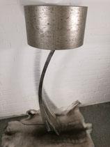 Stehlampe 156 cm hoch Gold/Schwarz