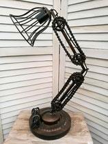 Tischlampe 59 cm schwarz/braun