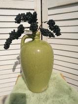 Vase grün mit Henkel im Used Look