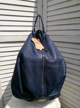 Lederrucksack blau