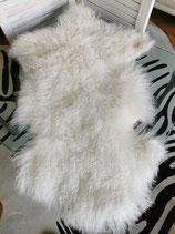 Tibet Lammfell Weiß