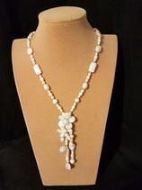 Collier mariage, collier mi-long, perle de culture d'eau douce.