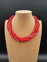 Collier, Collier Court, Collier Femme, Cristal Rouge, Multi-rangs