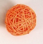 orange color rattan ball ( 100 balls)
