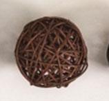 brown color rattan ball ( 100 balls)