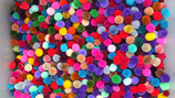mix color pom pom