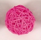pink color rattan ball ( 100 balls)