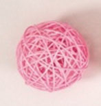 light pink color rattan ball ( 100 balls)