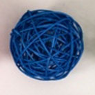 blue color rattan ball ( 100 balls)