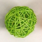 green  color rattan ball ( 100 balls)