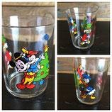 Vintage, verre à moutarde Disney, Noël de Mickey
