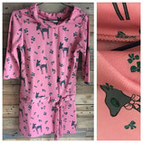 Style vintage robe rose avec bambis T40