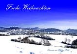 """Grußkarte """"Frohe Weihnachten - Clausen im Pfälzerwald"""" DIN A6"""
