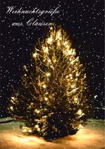 """Grußkarte """"Weihnachtsgrüße aus Clausen"""" DIN A6"""