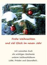 """Grußkarte """"Frohe Weihnachten mit Kugeln"""" DIN A6"""