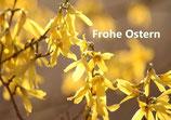 "Grußkarte ""Frohe Ostern"" - gelb DIN A6"
