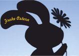"""Grußkarte """"Frohe Ostern"""" - blau DIN A6"""