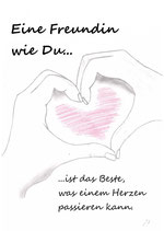 "Grußkarte ""Freundin"" DIN A6"