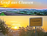 "Postkarte ""Gruß aus Clausen"""