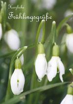 "Grußkarte ""Herzliche Frühlingsgrüße"" - Schneeglöckchen DIN A6"