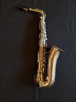 """Es Alt Saxophon - """"Oscar Adler"""" Baujahr 1930-1940 - Seriennummer 2114 - vernickelt - neu gepolstert - neues """"GEWA"""" Gigbag"""