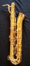 """Baritonsaxophon """"Schmid"""" - goldlackiert - Stimmung in Es -  vibrationsentdämpft---------AUSSTELLUNGSSTÜCK - SPITZENQUALITÄT---------"""