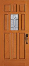シンプソン社製 4155デザイナー  木製玄関ドア 輸入木製玄関ドア (無塗装・ベイマツ・枠吊込加工品)