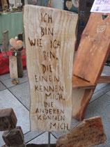 Holztafel mit Spruch Objektnr. 006