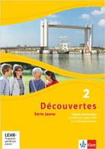 Découvertes 2 - Série jaune - Cahier d'activités mit MP3-CD, Video-DVD und Übungssoftware