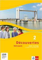 Découvertes 2 - Série jaune - Cahier d'activités mit MP3-CD und Video-DVD