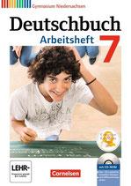 Deutschbuch 7 - Arbeitsheft mit Lösungen und Übungs-CD-ROM