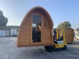Podsauna 250cm mit Vordach oder Terrasse